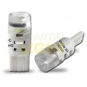 LED autožárovka W5W 1,5W 12V CW s čočkou (SMD 3014)