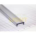 Krycí lišta KLIP pro hliníkový profil - čirá (0%) UV
