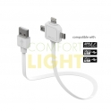 Nabíjecí kabel MiniUSB, MicroUSB, Apple Lightning - Power USB Cable