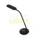 LED stolní lampička dotyková, 5W, 300lm, 3 stupně jasu, 4.100K, černá barva