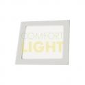 Vestavné LED svítidlo VEGA 12W (čtverec/bílá) WW/CW (950lm)