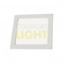 Vestavné LED svítidlo VEGA 18W (čtverec/bílá) WW/CW (1450lm)