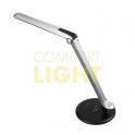 LED lampička 8W, černo-šedá, 5.300K, plynulá regulace jasu