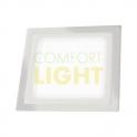 Vestavné LED svítidlo DUO VEGA 12+2W (čtverec/bílá) CW+BLUE (1000lm)