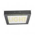 Přisazené LED svítidlo FENIX SQUARE 18W (čtverec/matný chrom) WW/NW (1350lm)