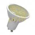 LED žárovka 8W GU10 (keramický chladič / prizmatické sklo) WW (670lm) / CW (700lm)