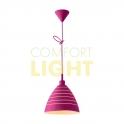 Silikonové závěsné svítidlo JAZZ - růžová (1xE27/40W)