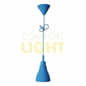 Silikonové závěsné svítidlo BLUES - modrá (1xE27/40W)
