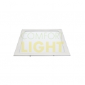 Vestavné LED svítidlo VEGA 12W (čtverec/matný chrom) WW/NW (850lm)